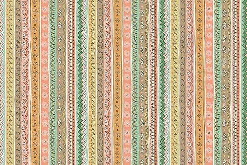 Makower 'Doodle Days' Stripe