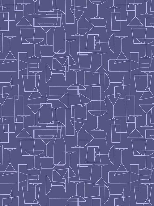 Lewis & Irene 'Cocktail Party' Glasses on Dark Violet