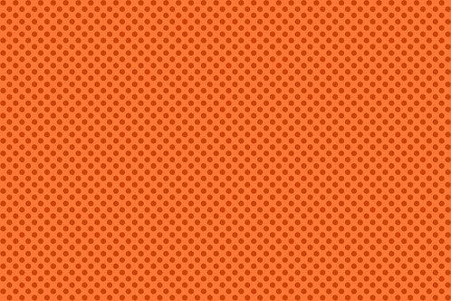 Makower 'Novelty Christmas 2017' Polka Dot Orange