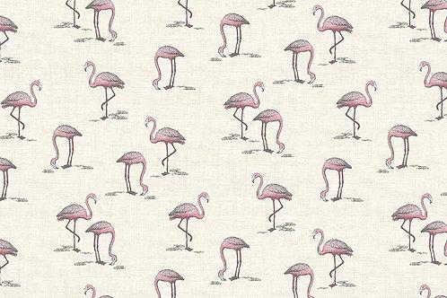 Makower 'Fern Garden' Flamingos on Cream