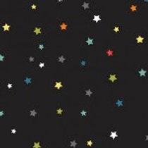Makower 'Outer Space' Multi stars on black