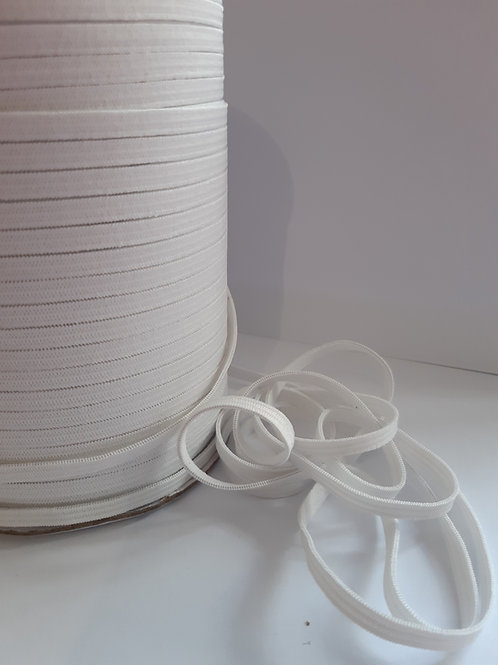 Soft White elastic - 5 mm  (Sold by 10m length)
