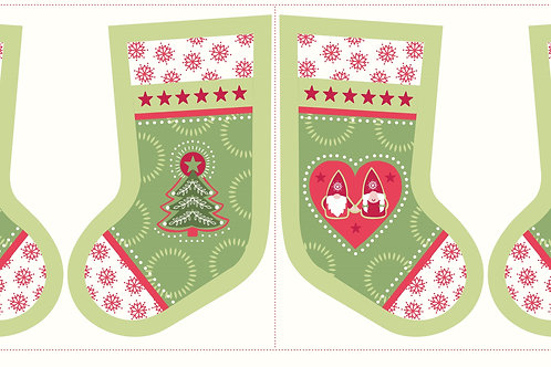 Hygge Christmas Stocking - Green