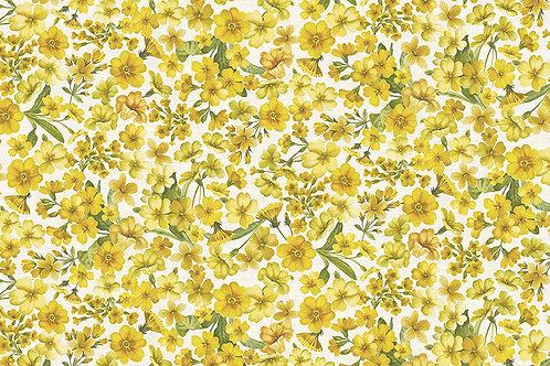 Makower 'Fern Garden' Primroses on Cream