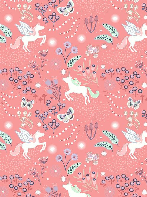 Lewis & Irene  - Fairy Nights Unicorn Meadow on Peachy Pink