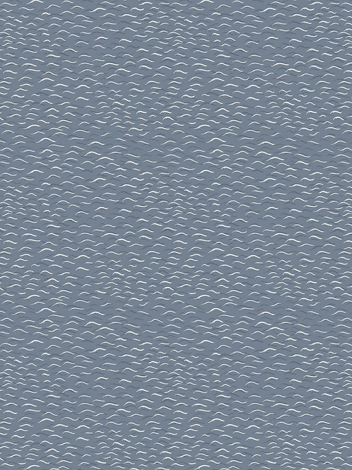 Lewis & Irene 'From Old Harry Rocks' Light waves on Dark grey/blue