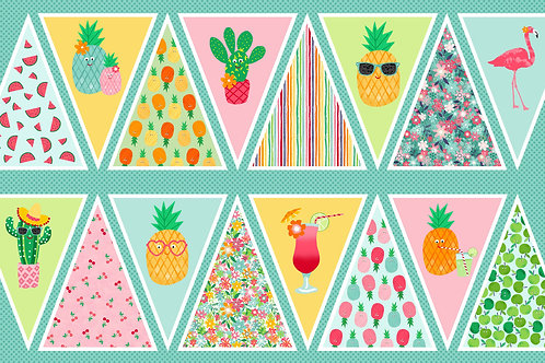 'Fruity Friends' Bunting panel