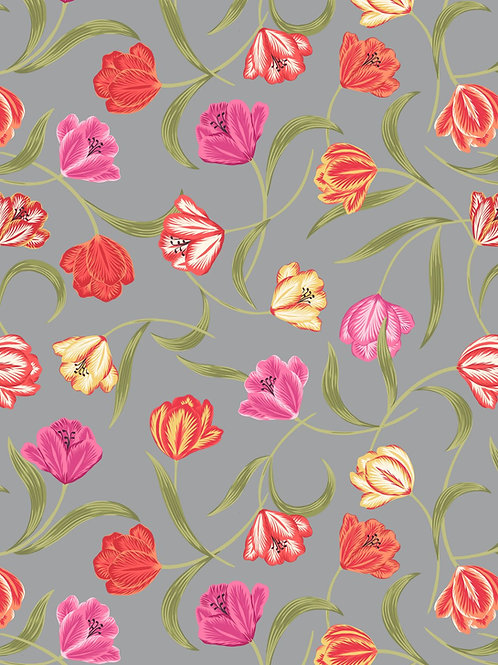 Tulip Fields - Tulips on Grey