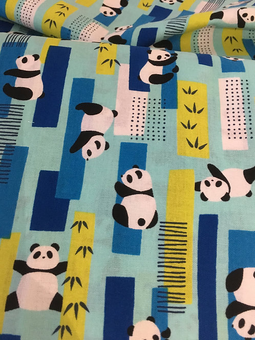 Pandas on Light Blue