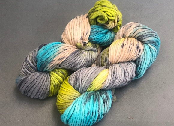 """Coney Island"" by What athe Flock Yarn- Flockin' Chunky Single."