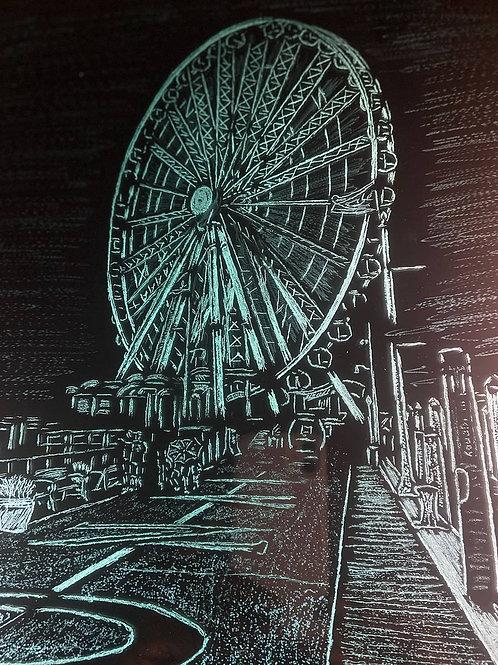 National Harbor Ferris Wheel 15x18