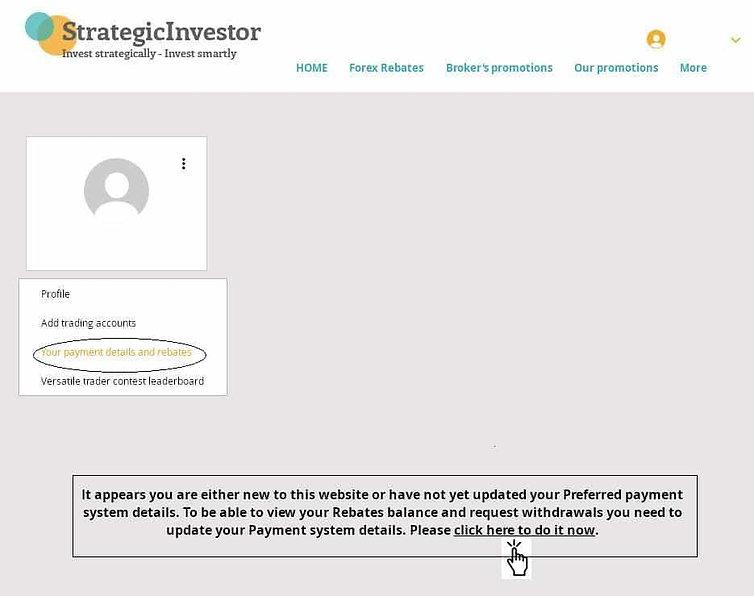 Update payment system - Strategicinvesto