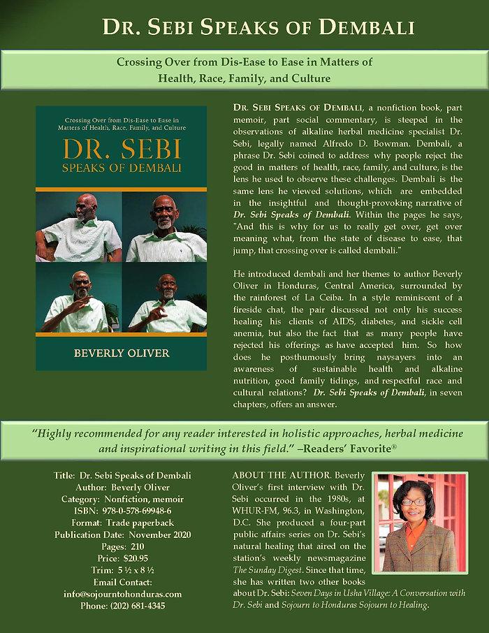 Dr. Sebi Speaks of Dembali preview