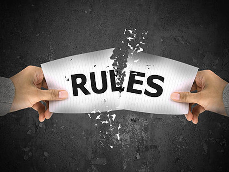 Go on...break those rules...