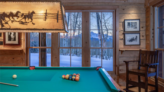 Pool Table with Mount Wilson View
