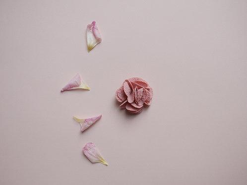 barrette Fleur  vieux rose
