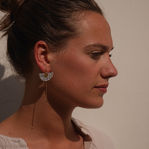 boucles d'oreilles Gentiane métallic