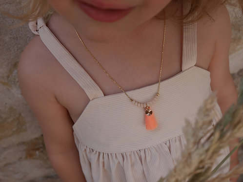collier Emilia melon/vanille