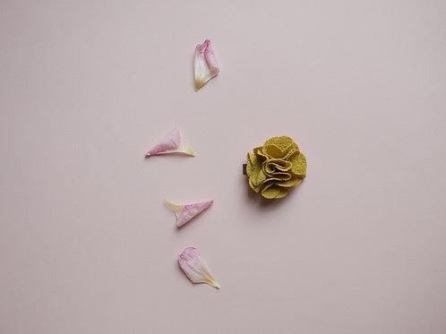 barrette Fleur safran