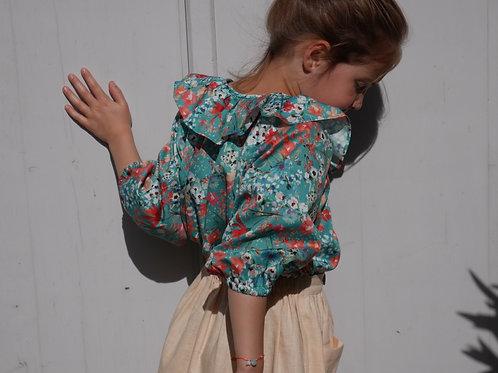 blouse Iris fleurie
