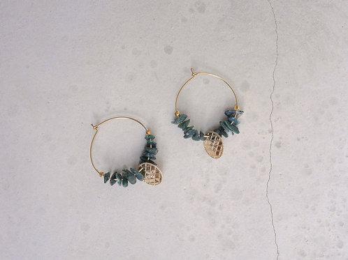 boucles d'oreilles Hosta agate