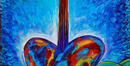 Grow Some Love 16x20 Original painting
