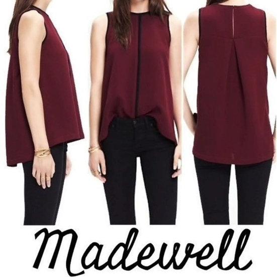 Madewell Crepe Canal Sleeveless Blouse