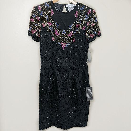 Adrianna Papéll Evening Beaded Silk Dress