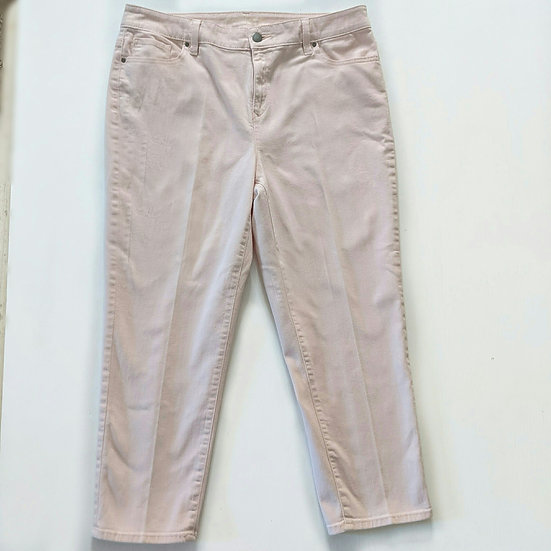 Chico's Platinum Crop Capri Pants