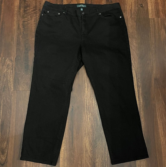 Lauren Ralph Lauren Black Straight Jeans