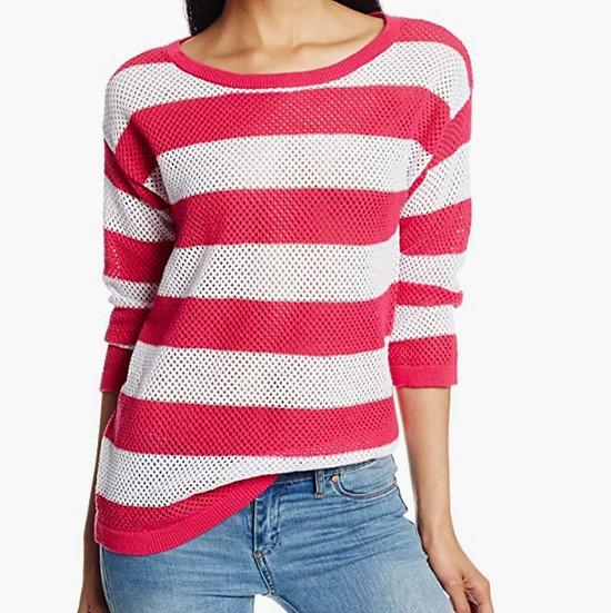 Jones New York Open Crew Pullover Knit Sweater