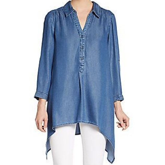 Saks Fifth Avenue Chambray Tunic Top