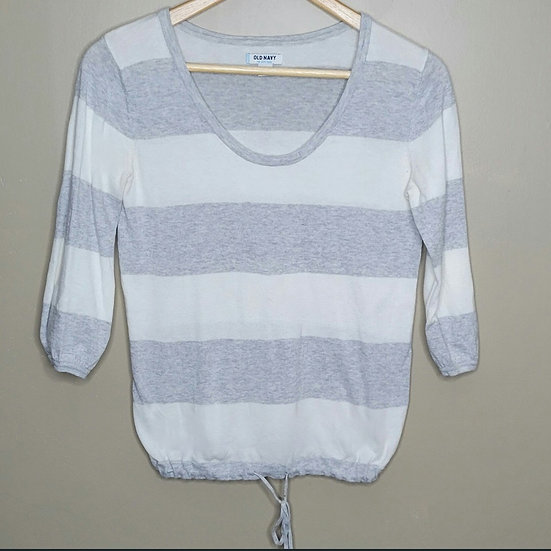 Old Navy Striped 3/4 Sleeve Sweater