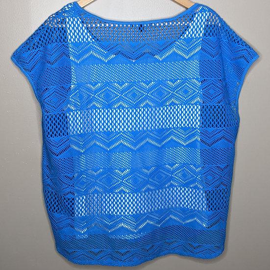 Chaus Sport Crochet Overlay Tank Top Shirt