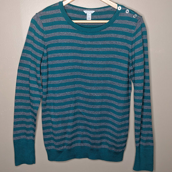 Nautica Striped Nautical Scoop Neck Sweater