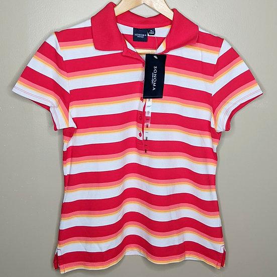 Sonoma Striped Short Sleeve Polo Shirt