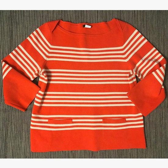 J. Crew Boatneck Striped Knit Top