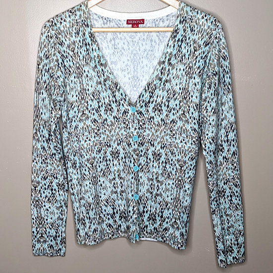 Merona Speckled Long Sleeve Button Down Cardigan