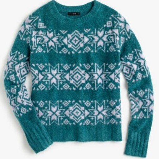 J. Crew Fair Isle Wool-blend Sweater