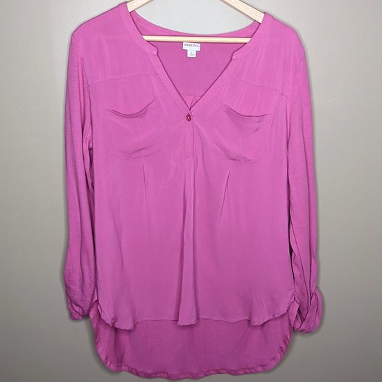 Merona Rolltab Sleeve Relaxed Fit Blouse