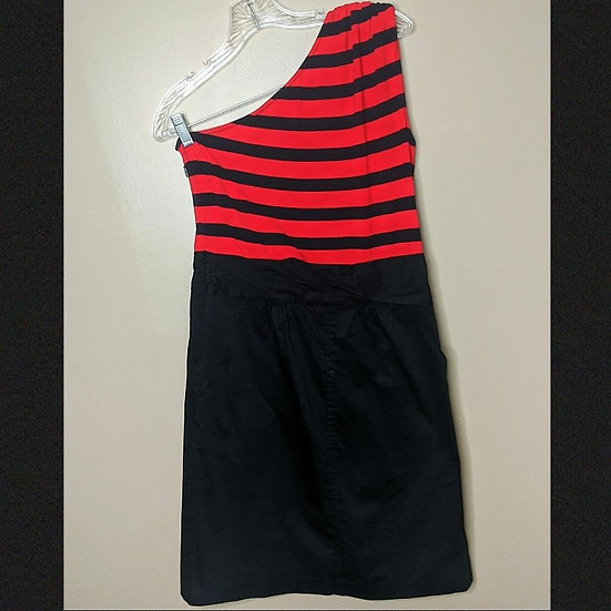 The Limited Striped One Shoulder Dress