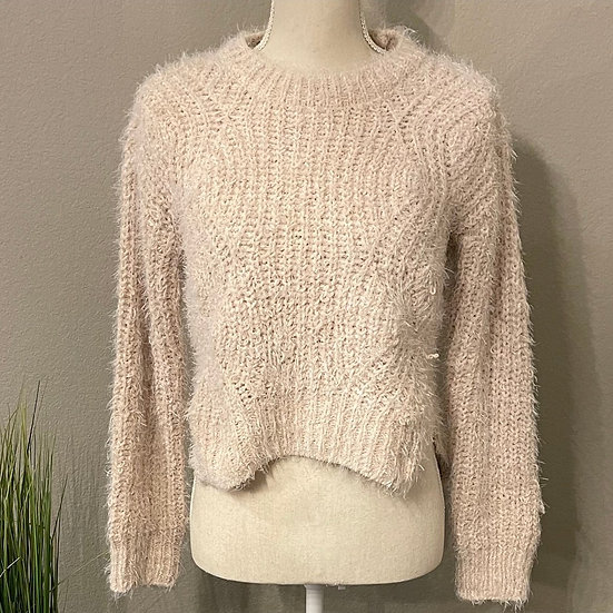Candie's Fuzzy Cropped Sweater