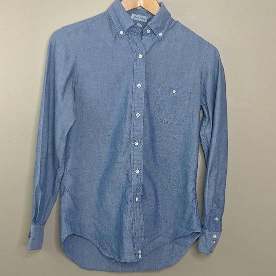 Diane von Furstenberg Long Sleeve Chambray Shirt