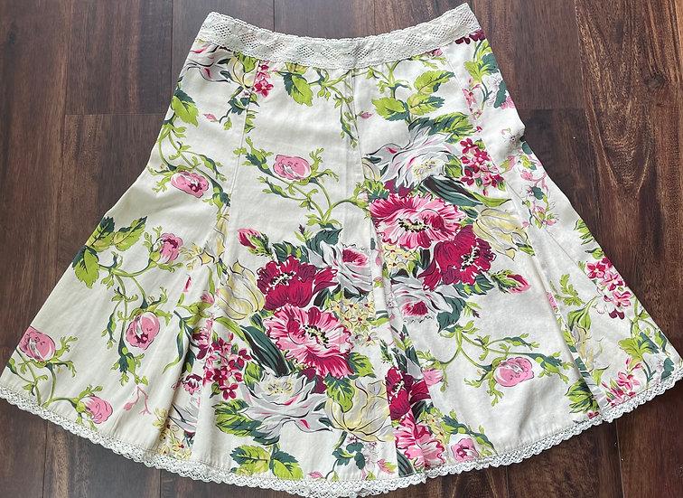 CAbi O'Hara Floral A-line Skirt