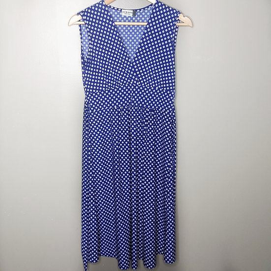 Jon & Anna Sleeveless Polka Dot Midi Dress