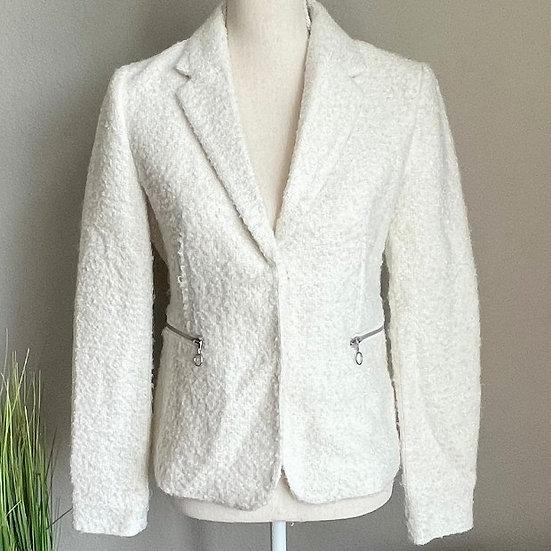 Catherine Malandrino Tweed Ivory Blazer