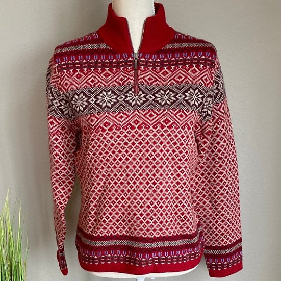 L.L. Bean Fair Isle Wool Sweater