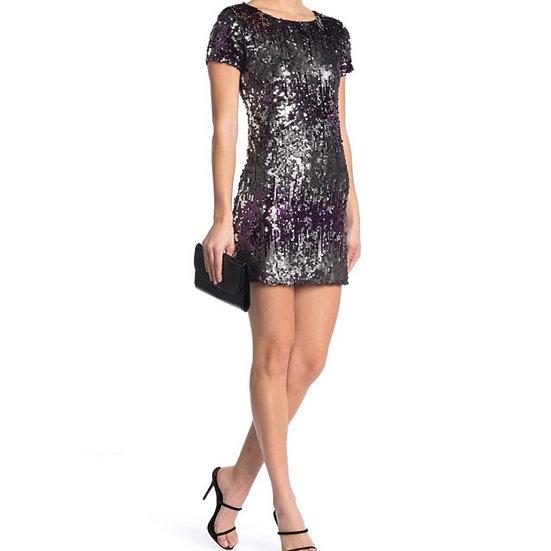 Jump Apparel Cap Sleeve Sequins Dress
