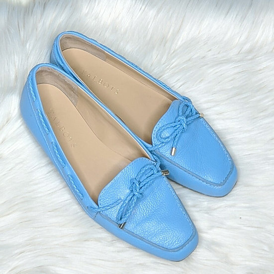Talbot's Leather Sky Blue Loafers