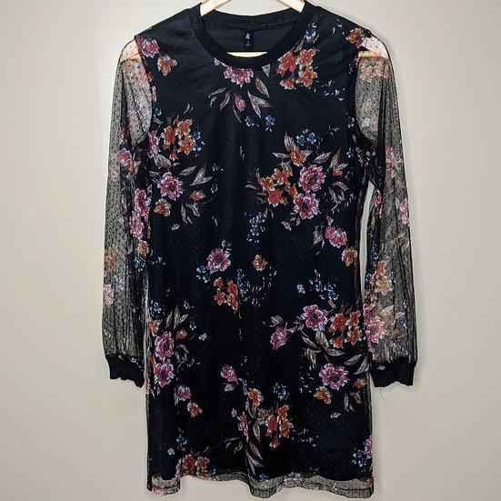 BeBop Long Sleeve Floral Mini Dress